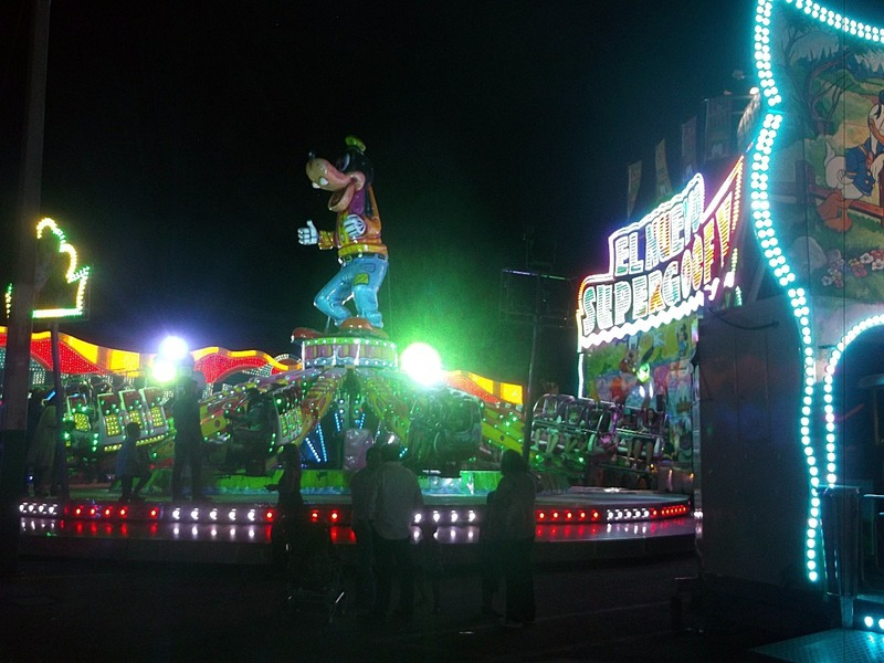 goofy fairground ride