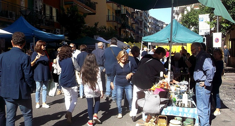 At the bottom of our street was a Sunday Market