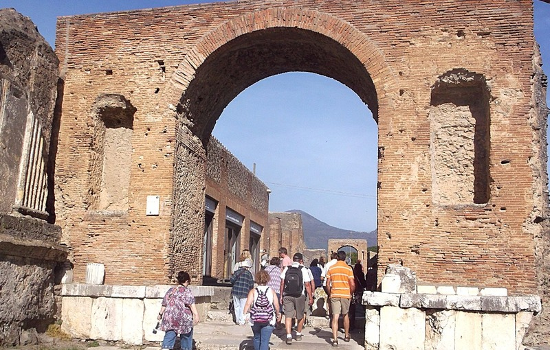 One of the old gates into Pompei