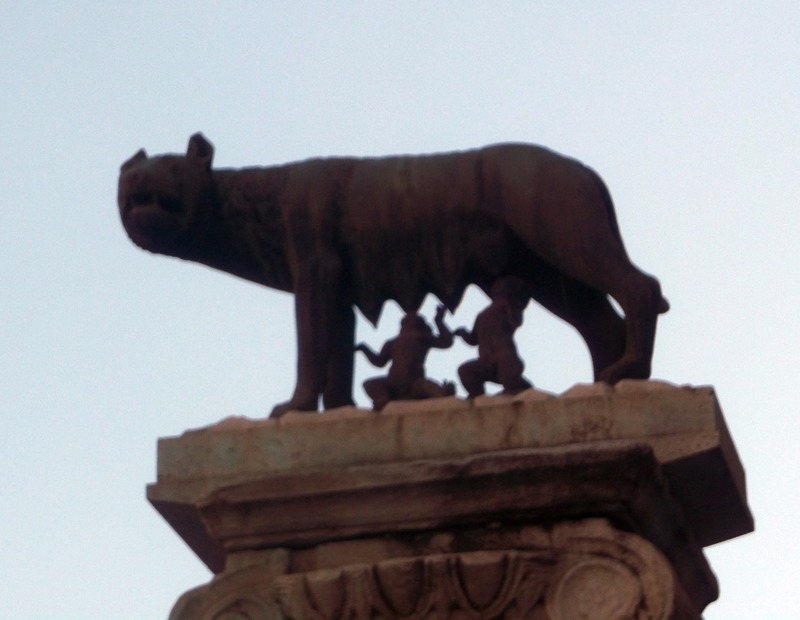 A famous statue of Romulus and Remus