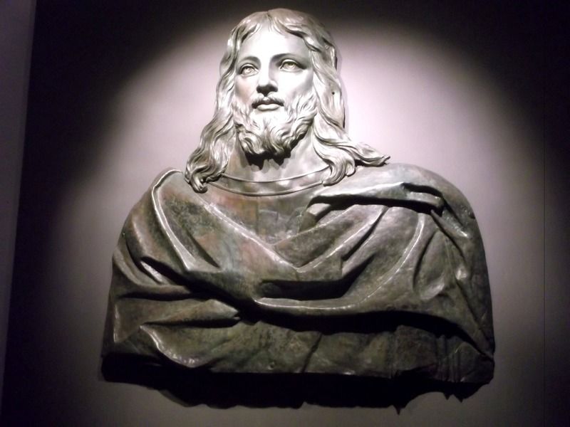 Bronze image of Christ