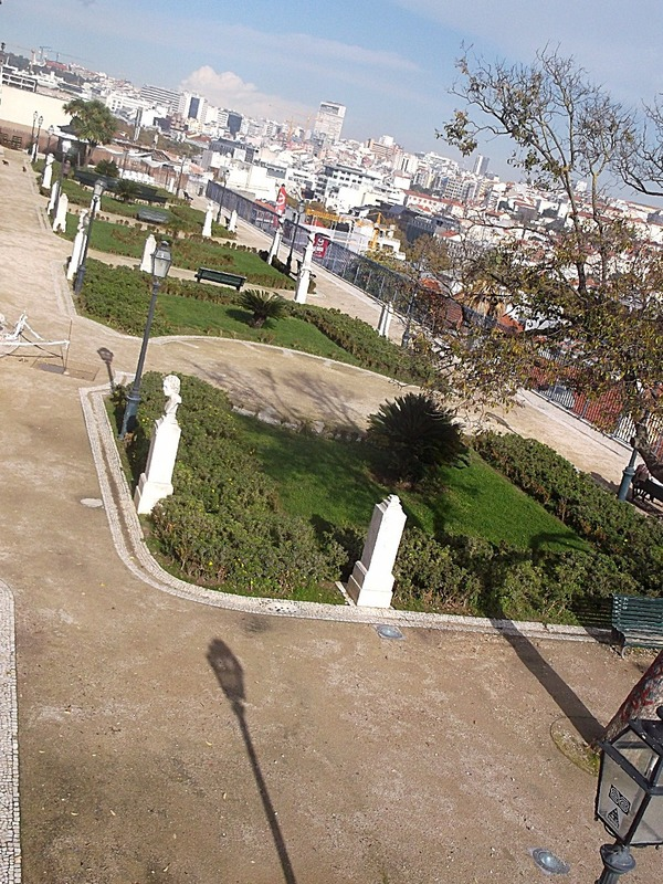 on top of one of the Lisbon hills
