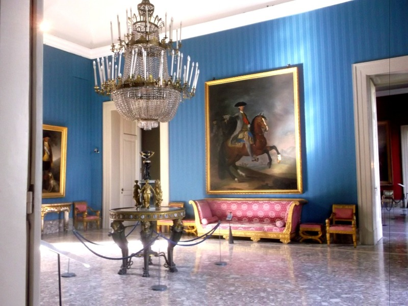 with furnished royal apartments