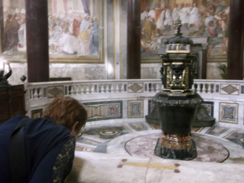 ornate font for Christening ceremonies