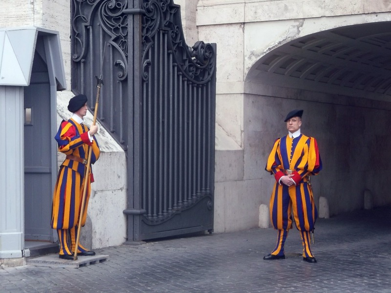 Swiss guards at St Peters