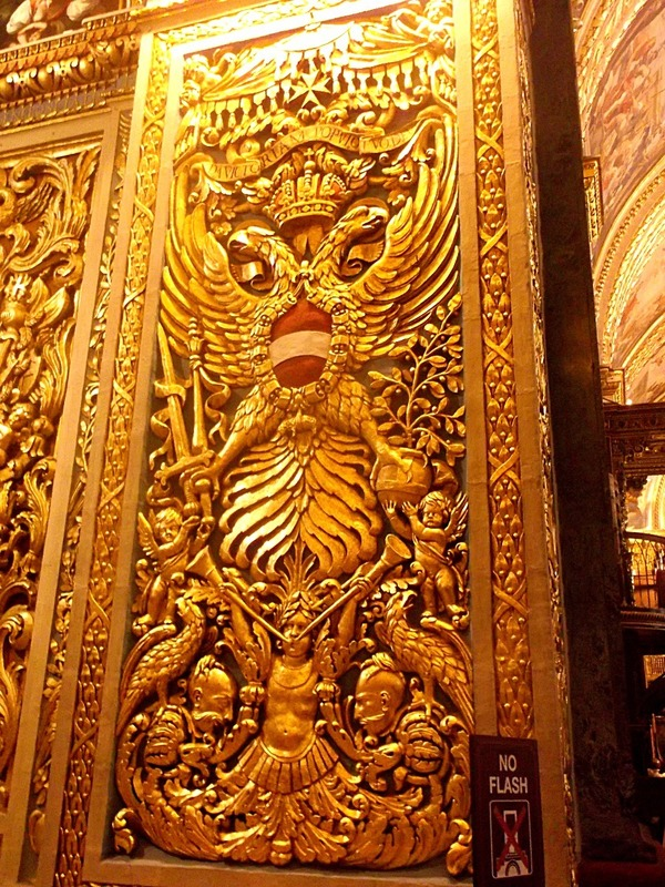 carvings then gilded or painted