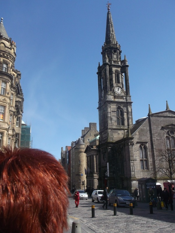 Walking up the Royal Mile