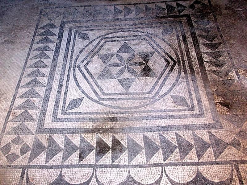 mosaic entry to villa