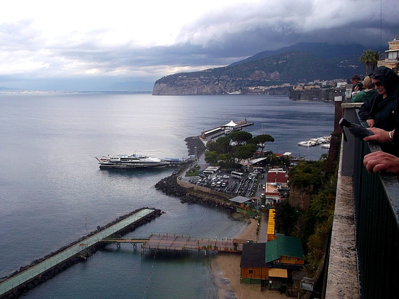 to the right are ferries to Capri