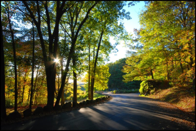 Road to Quabin Reservoir