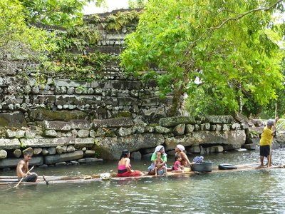 Locals at Nan Madol ruins