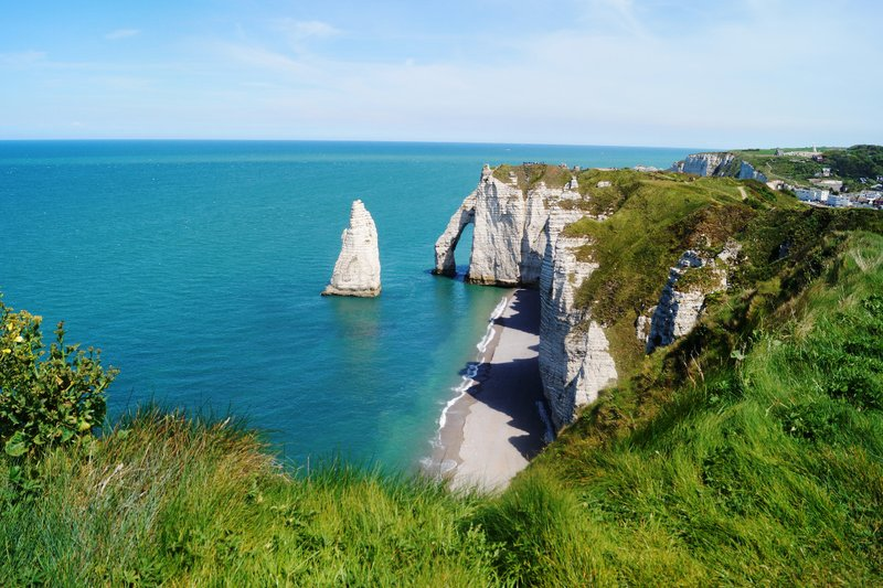 White cliffs in Etretat
