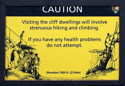 Caution Sign, Mesa Verde, CO, US 2015 - Mesa Verde National Park