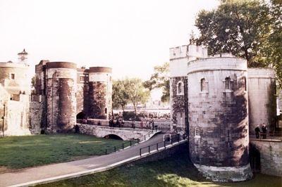 Tower of London gate, London, UK 1974 - London