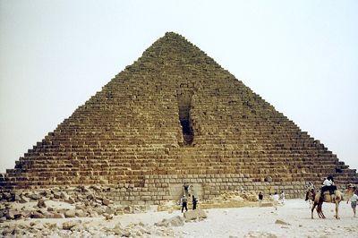 Pyramid of Menkaure, Giza, Egypt 2001 - Pyramids of Giza
