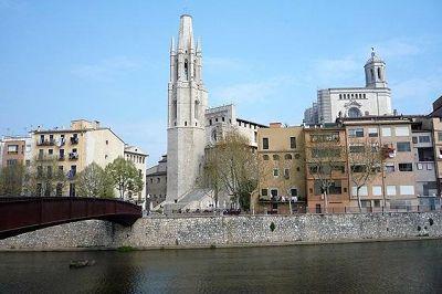Sant Feliu and Cathedral, Girona, ES 2009 - Girona