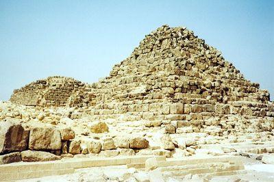 G1b and G1c, Giza, Egypt 2001 - Pyramids of Giza