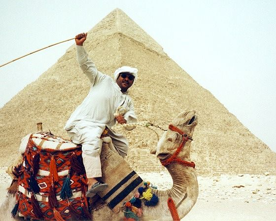 camel rider, Giza, Egypt 2001 - Pyramids of Giza