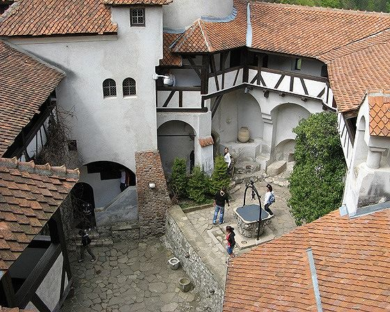 Bran Castle Courtyard, Bran, Romania 2007 - Bran