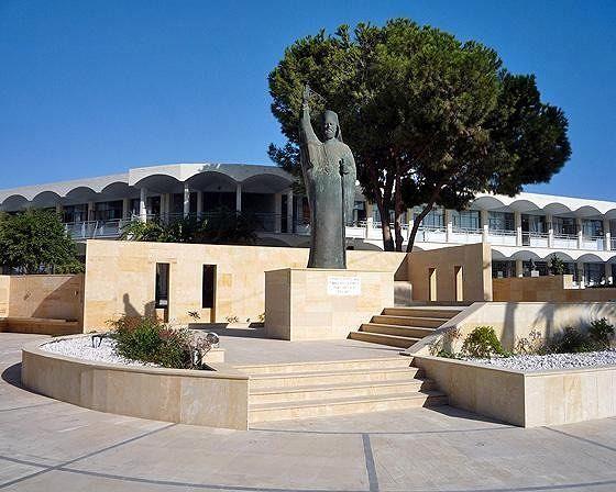 Makarios III statue, Larnaca, Cyprus 2010 - Larnaca