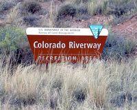 Entrance, UT Route 128, Utah, US 2015 - Dewey