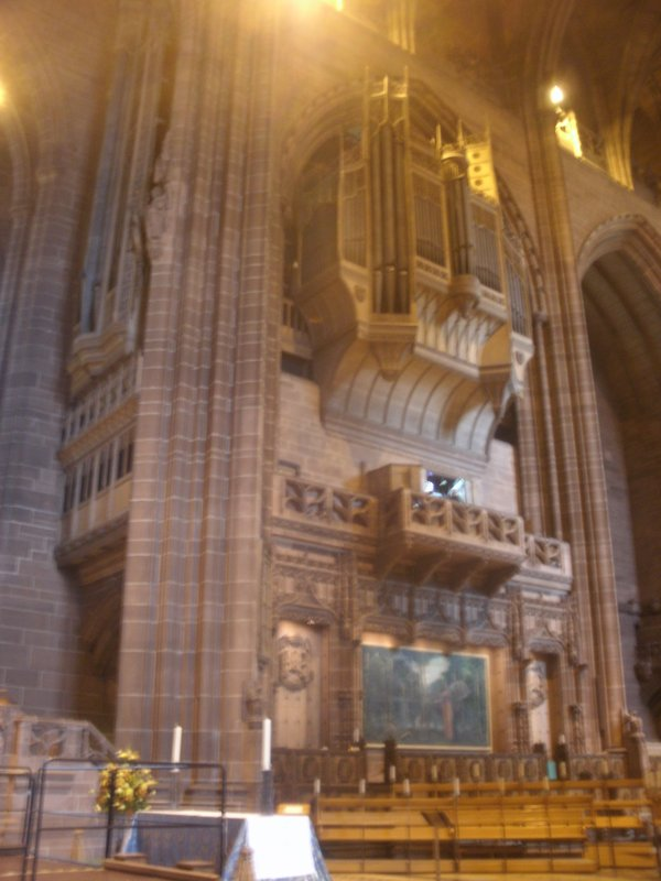 View inside Liverpool Cathedral