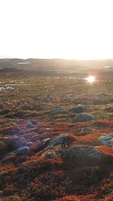 The sunlight is bright in Iqaluit