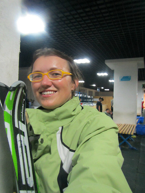Me vs. skis