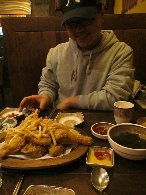 Yun Gil vs. chicken and fries