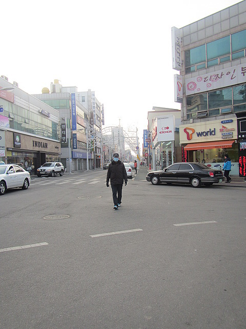 The main street in Namwon