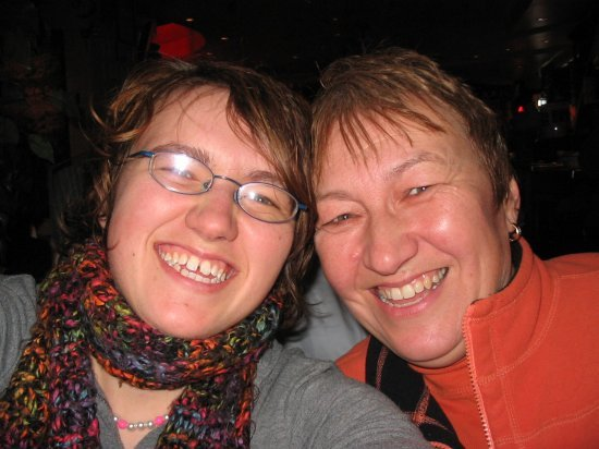 Me and mom at Portofino's