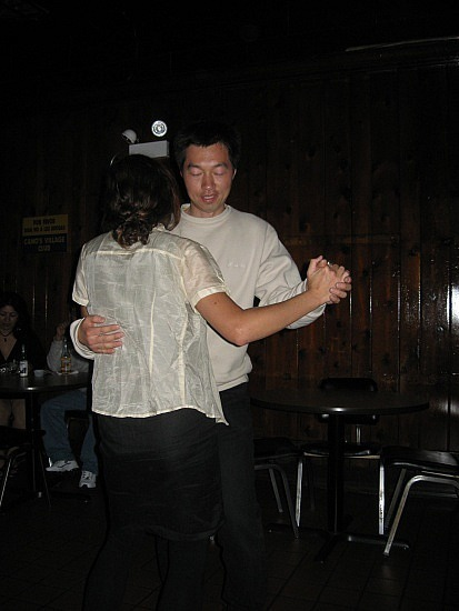 Adam dancing with Suzanne