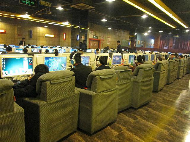 Huge internet cafe