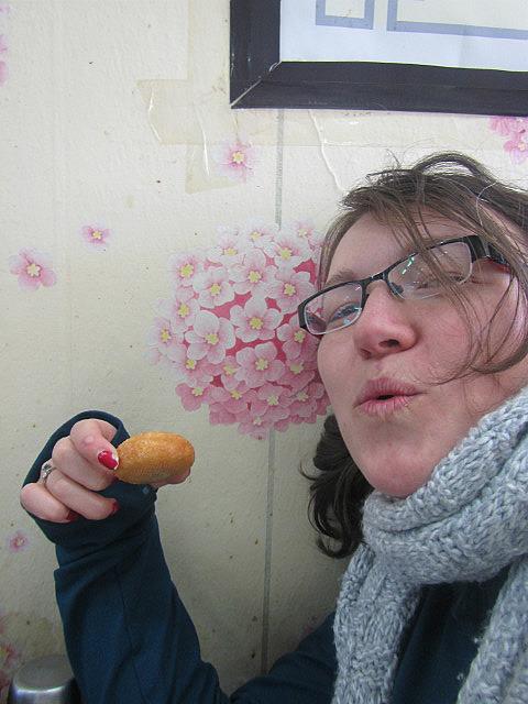 Me vs. red bean donut