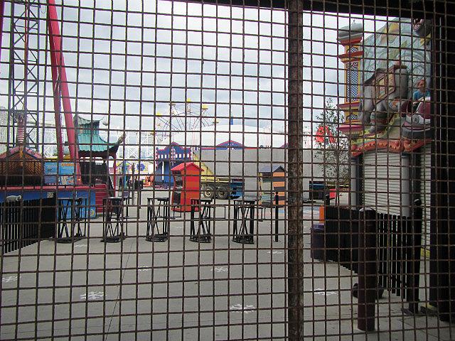 Luna park through the bars