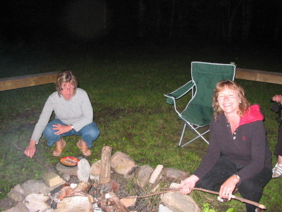 Heather and Bonnie vs. marshmallows