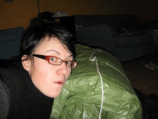 Me vs. giant bedroll