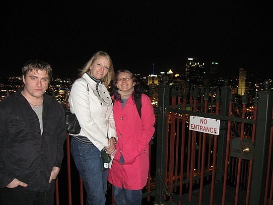 Justin, Alison and me at the Duquesne Incline