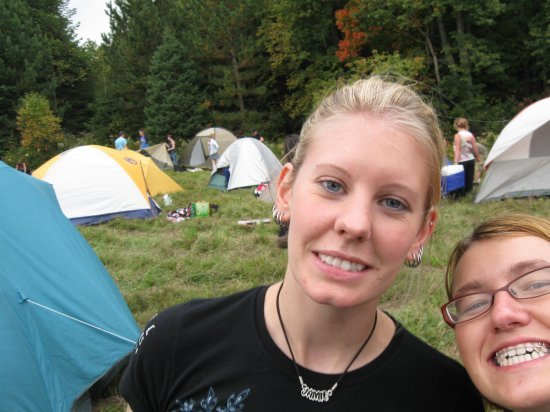 Me and jamie in our campsite