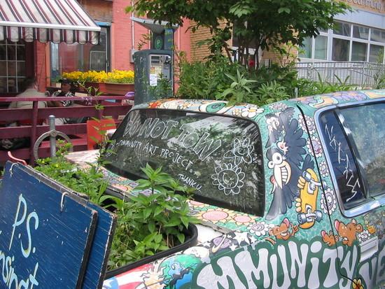 Car filled with plants, Kensington Market