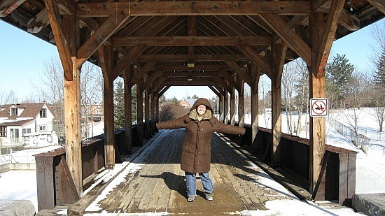 Me vs. the covered bridge