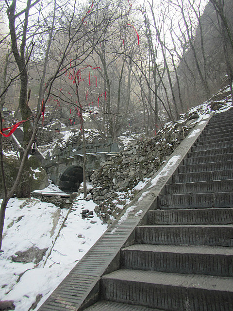 Some stairs and snow