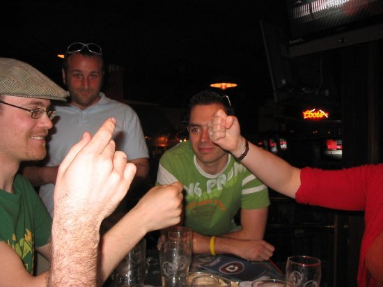 Rock, paper scissors...Sam won...