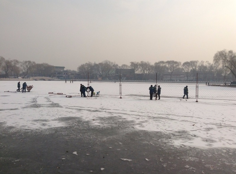 Making the skating rink