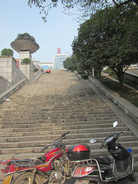 Stairs to old railway station