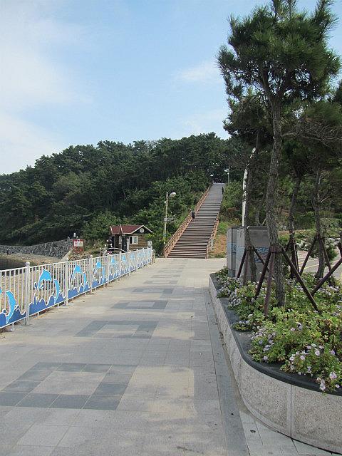 Ulsan beach stairs