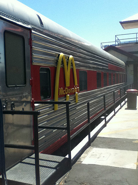 McDonald's in a train car