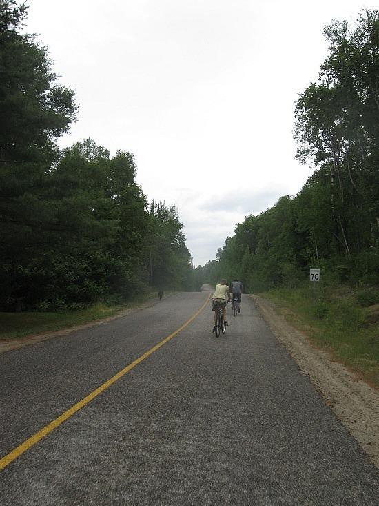 Aksana and Denis on bikes