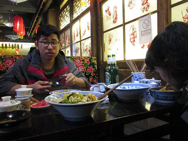 Carl at dinner
