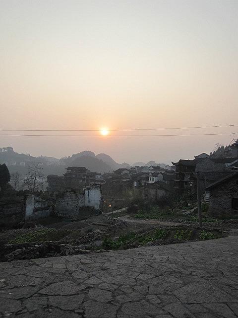 Furongzhen sunset